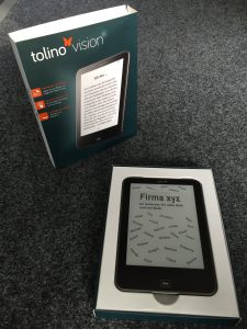 """eBook """"tolino vision"""" als Abschiedsgeschenk für einen Kollegen"""